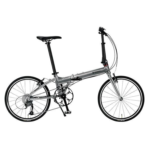 ルノー 20型 折畳み自転車 プラチナマッハ8 シルバー 11298-09【沖縄・離島配送不可】