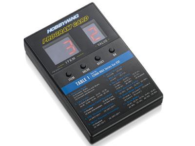 【簡単・お手軽/LEDで現在設定視認可能】 HOBBYWING ESCプログラムカード PG-CARD General【ホビーウィング日本総代理店】