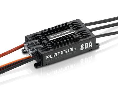 【HOBBYWING 空用アンプ&モーター】PLATINUM 80A-V4 BEC内蔵 5V-8V/10A
