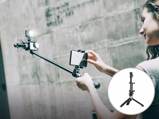 各種アクションカム対応 低価格 3WAY簡単変形三脚 PGYTECH ピージーワイテック日本総代理店 アクションカメラ用 エクステンションポールミニ三脚プラス おトク