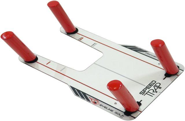 ダウンブローと オンプレーンスウィングを身につける練習器具 EYELINE 百貨店 GOLF 超歓迎された スピードトラップ