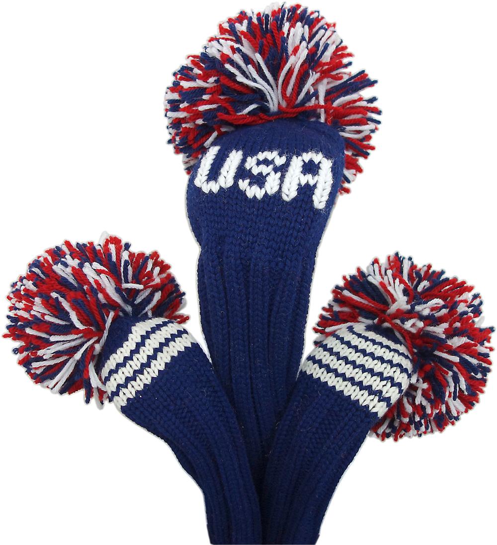 【ジャンクレイグヘッドカバー JAN CRAIG HEADCOVER】チーム/USA TEAM/USA(1W,3W,5W 3本セット)
