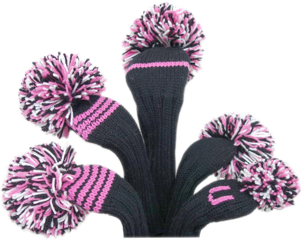 USPGAツアーでお馴染みのジャンクレイグヘッドカバー 大きなポンポンとカラフルな毛糸がトレードマーク ジャンクレイグヘッドカバー JAN ギフ_包装 CRAIG HEADCOVER ピンク Pink Black ブラック 直営店 White ドライバー ホワイト