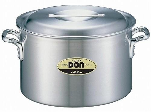 アカオ DON 硬質アルミ半寸胴鍋 39cm 【プロ仕様、業務用鍋 DONシリーズ】 アカオアルミ