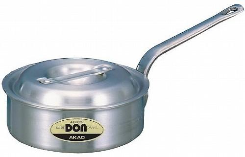 アカオ DON 硬質アルミ浅型片手鍋 36cm 【プロ仕様、業務用鍋 DONシリーズ】 アカオアルミ
