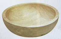 木製 こね鉢 木地仕上げ 45cm 【天然木 くり抜き コネ鉢 ねり鉢 蕎麦打ち 麺打ち】 0229-0203