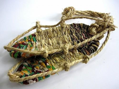 わらじ 国産 10足セット 布付 【即納】*熟練の職人が一つ一つ丁寧に編みました*  【草鞋 ワラジ 草履 ぞうり 藁】