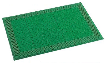 テラモト テラエルボーマット 900×1500mm *色をご指定下さい* MR-052-052 【業務用 人工芝 芝生 樹脂製 マット 土砂落とし】