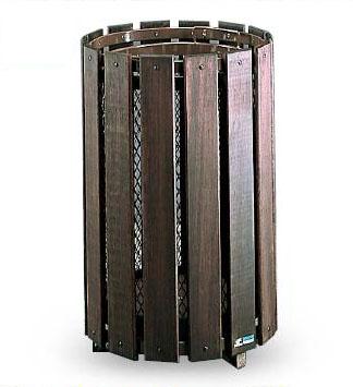 テラモト グランドコーナー 木調 44L (天然木の風合いを生かした屑入) DS-200-090-9 【業務用 ゴミ箱 ごみ箱 】