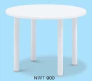 テラモト ガーデンテーブル NWT-900 白 MZ-651-120-0 【業務用 樹脂製 ガーデンファニチャー 机】