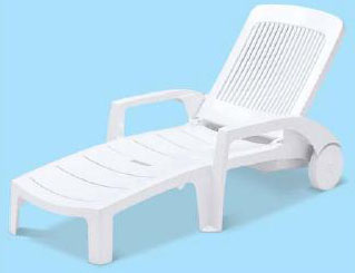 テラモト フィジーサンラウンジャー MZ-603-020-8 【樹脂製 リクライニングチェア ガーデンチェア 折りたたみ キャスター付】