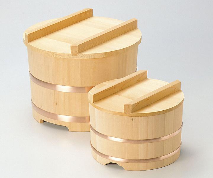 椹・のせびつ φ33 2升 《04117》     ヤマコー 用美 【日本製 国産 おひつ お櫃 さわら 木製品】