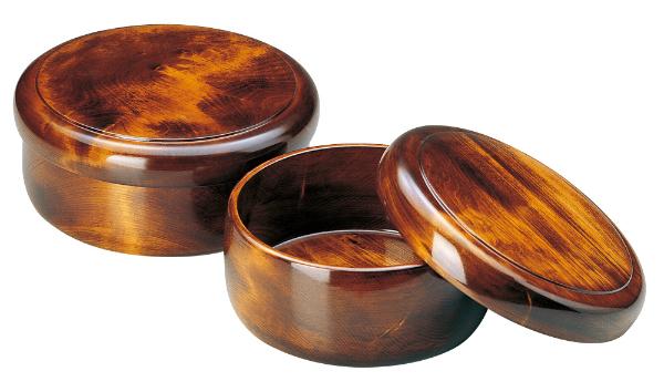 【茶櫃・木製・茶びつ】木曽ろくろ 栃 茶ビツ 尺1 《61103》 日本製 ヤマコー ようび