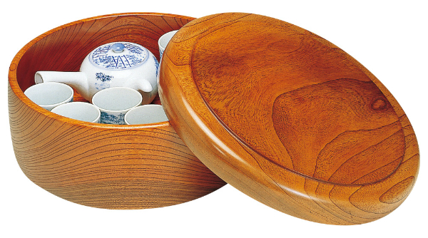 【茶櫃・木製・茶びつ】木曽ろくろ ケヤキ 茶ビツ 尺1 《61115》 日本製 ヤマコー ようび