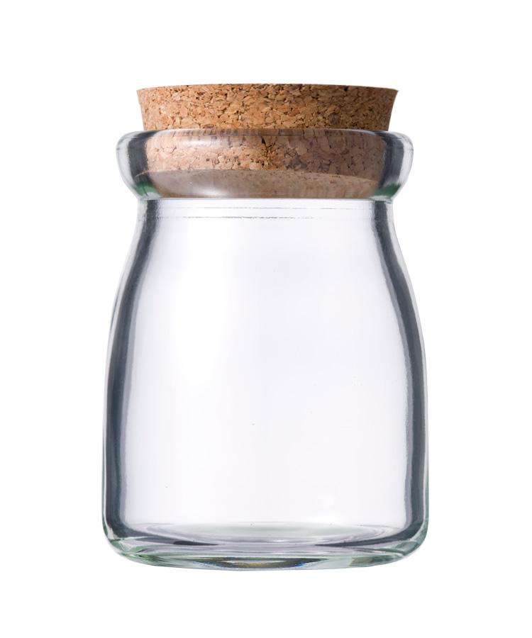 ガラス瓶 コルク瓶 ヨーグルト100 コルク付 100ml 〈45×40×15〉-105本セット- glass bottle cork top
