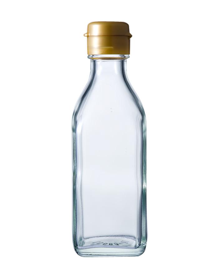 ガラス瓶 ドレッシング・タレ瓶 調味200角-HC-F 200ml-48本セット- sauce bottle