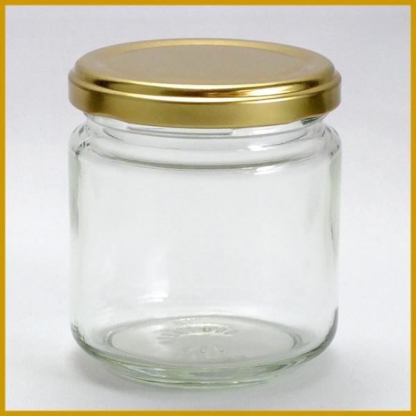 ガラス瓶 蓋付 ジャム瓶 ガラス保存容器 J200ST-84本セット- 187ml jam jar