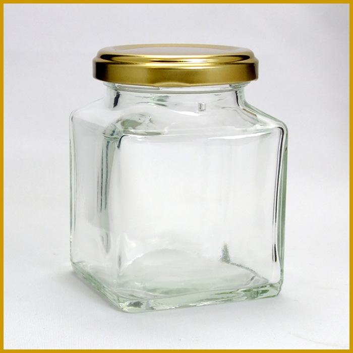 ガラス瓶 蓋付 ジャム瓶 ガラス保存容器 K180 -48本セット-180ml jam jar