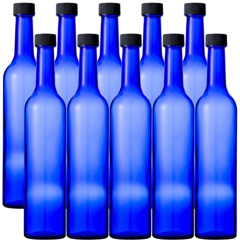 Glass bottle wine bottle wine bottle blue bottle slim win 500 CBT 500ml-10  pieces-wine bottle