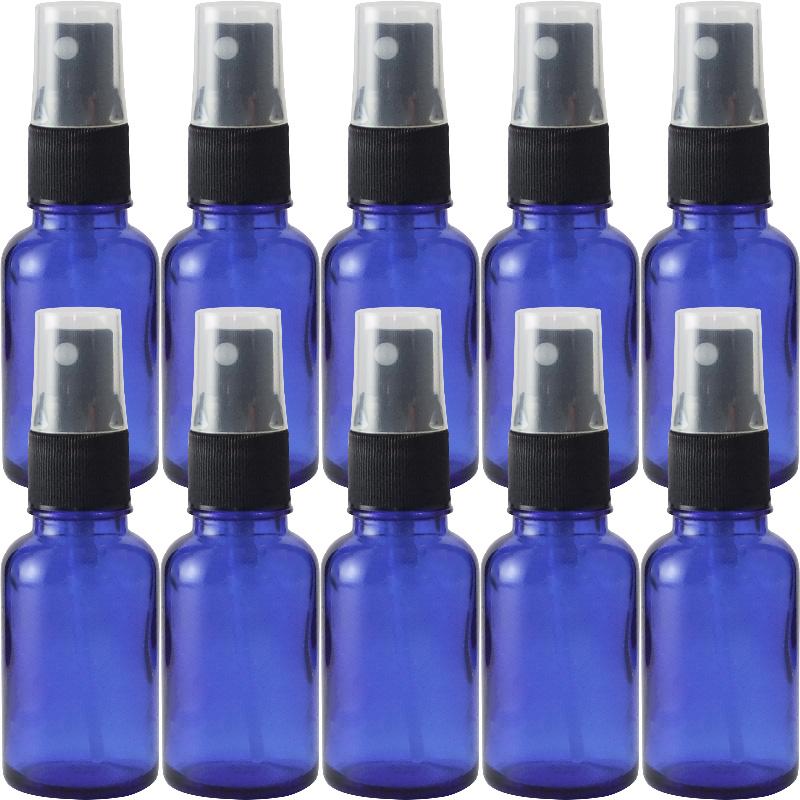 遮光ビン 遮光瓶 ブルー 30cc 黒スプレー SYA-B30cc黒スプレー 【10本セット】ボトル