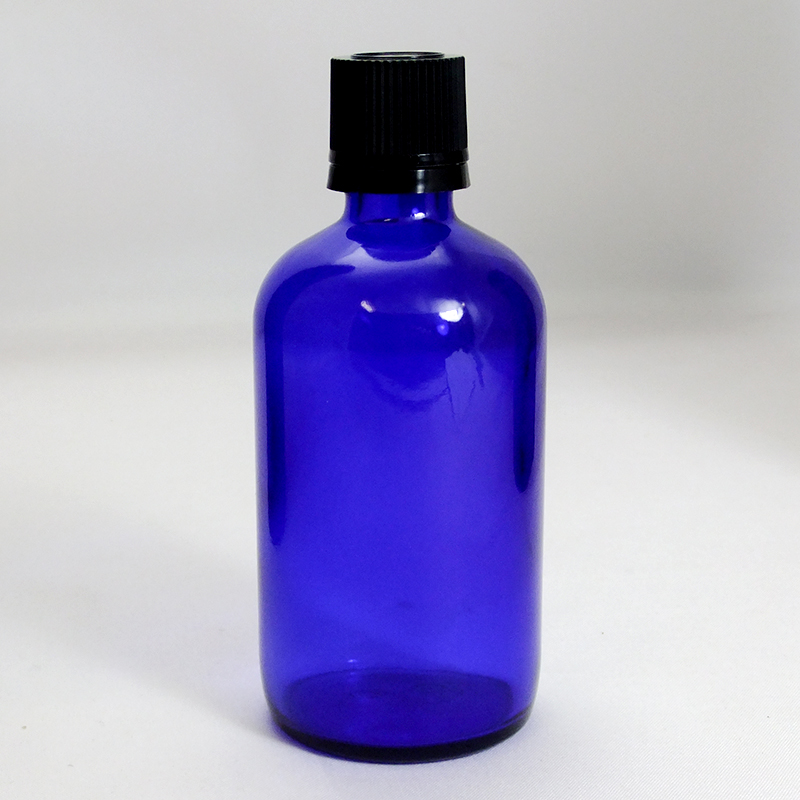 遮光ビン 遮光瓶 ブルー TBG-100 100ml blue glass essential oil bottle