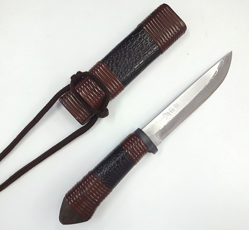 佐治武士作三の丸白紙多層鋼和式ナイフ