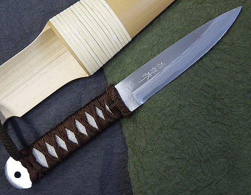 佐治武士作かぐや姫 120mm白紙多層鋼和式ナイフ