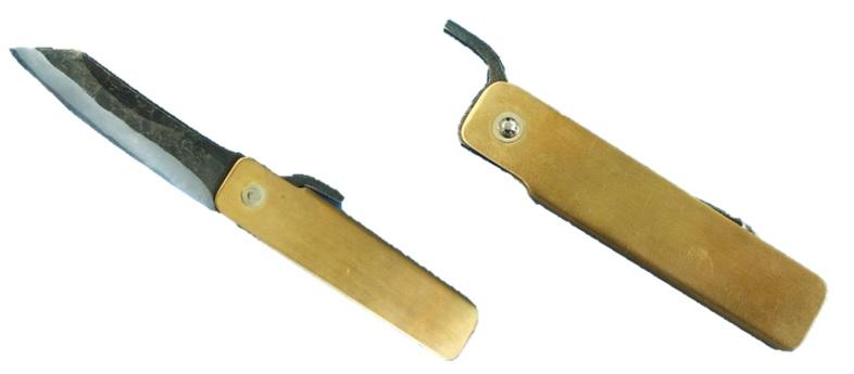 【送料無料・税込】清玄作 肥後守型ナイフ 青紙鋼の鍛造割込