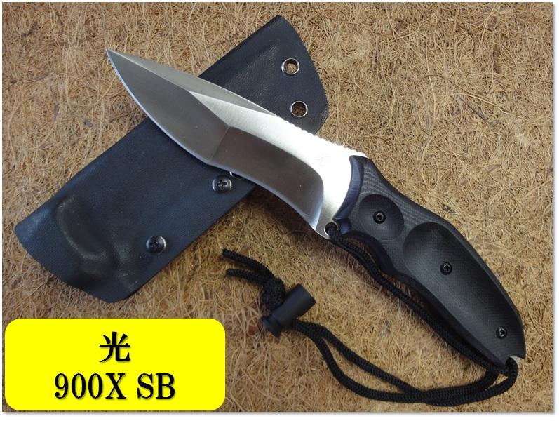 光(ヒカリ)ハンチングナイフ009X SBD2 黒G10カイデックスケース【HIKARI-009X-SB】【10015036】