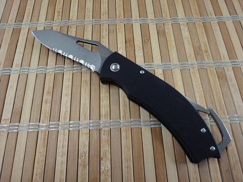 日本製 カラビナナイフG10ハンドル フォールディングナイフMADE IN SEKI JAPAN