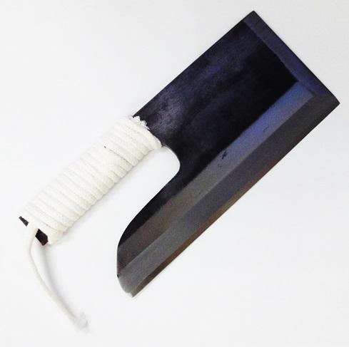 そば/めん切り包丁青鋼 片刃 紐巻 270mm