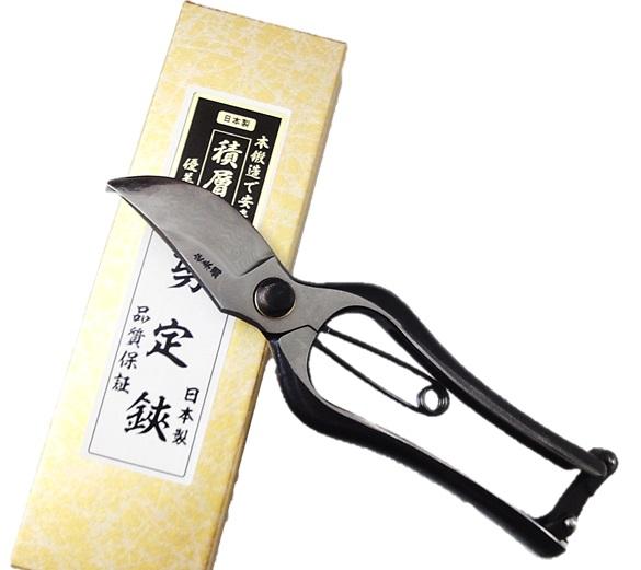 剪定鋏 210mm本鍛造6層積層鋼 安来鋼黄紙ダマスカス鋼 多層鋼日本製【24-10016918】