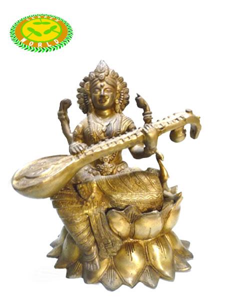 インドの神様SARASWATI(サラスワティ)の置物 【bonus_cosme_free】