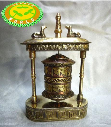 ネパール・チベット マニ車 鹿ストゥーパの祈りの輪(Deer Stupa Prayer wheel )