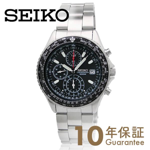 【ポイント最大36倍 3/29 23:59まで】セイコー 逆輸入モデル SEIKO パイロット クロノグラフ 10気圧防水 ブラック SND253P1(SND253PC) [正規品] メンズ 腕時計 時計【あす楽】
