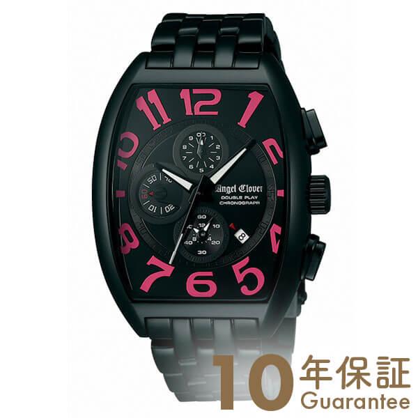 AngelClover エンジェルクローバー ダブルプレイ ブラック/ピンク デイト クロノグラフ DP38BBP [正規品] メンズ 腕時計 時計