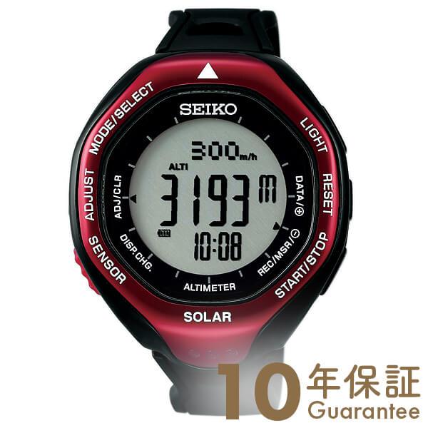 セイコー プロスペックス PROSPEX アルピニスト ソーラー 10気圧防水 ブラック×レッド SBEB003 [正規品] メンズ 腕時計 時計【あす楽】