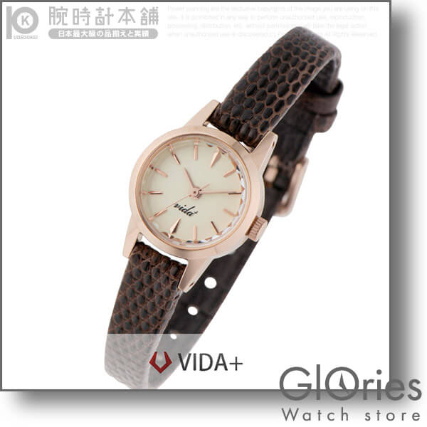 【2500円割引クーポン】ヴィーダプラス VIDA+ Vジャパンメイド V-006P LE-BR [正規品] レディース 腕時計 時計