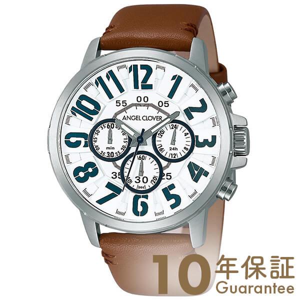 【29日は店内最大ポイント39倍!】 AngelClover エンジェルクローバー Bump ホワイト クロノグラフ BU44SWHBR [正規品] メンズ 腕時計 時計
