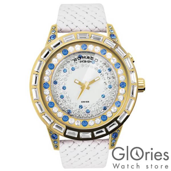 【7000円割引クーポン】ロマゴデザイン ROMAGODESIGN DAZZLE ダズル RM006-1477GD-BU [正規品] メンズ&レディース 腕時計 時計