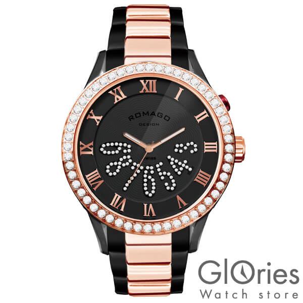【8000円割引クーポン】ロマゴデザイン ROMAGODESIGN LUXURY ラグジュアリー RM019-0214SS-RGBK [正規品] メンズ&レディース 腕時計 時計