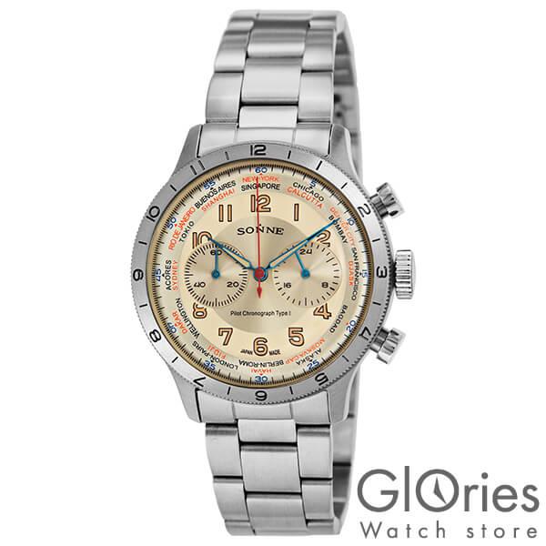 【3500円割引クーポン】ゾンネ SONNE パイロットクロノグラフタイプ1 HI003IV [正規品] メンズ 腕時計 時計