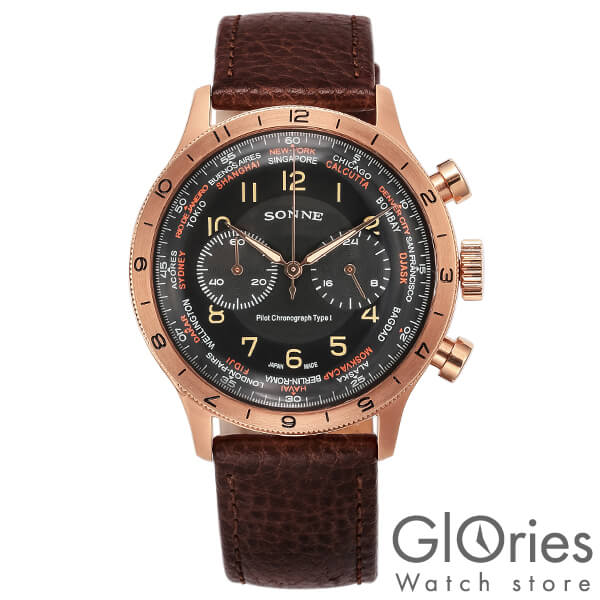 【3500円割引クーポン】ゾンネ SONNE ヒストリカルコレクション HI003PG-BR [正規品] メンズ 腕時計 時計