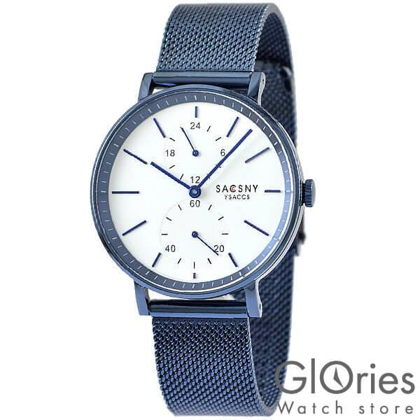 【100円割引クーポン】サクスニーイザック SACCSNYY'SACCS SYA15147BL-WH [正規品] メンズ&レディース 腕時計 時計
