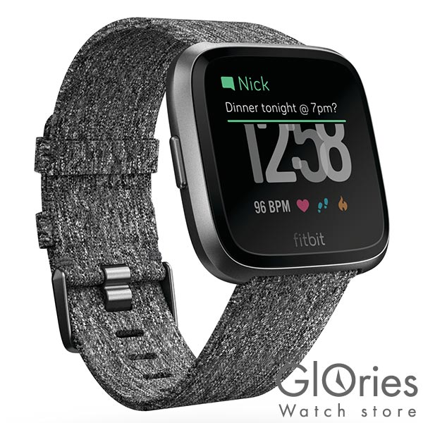 フィットビット Fitbit Versa FB505BKGY-CJK ユニセックス【】