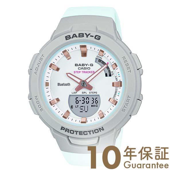 BABY-G レディース ホワイト アナデジ ベビーG BSA-B100MC-8AJF モバイルリンク デュアルタイム カシオ 腕時計    【あす楽】