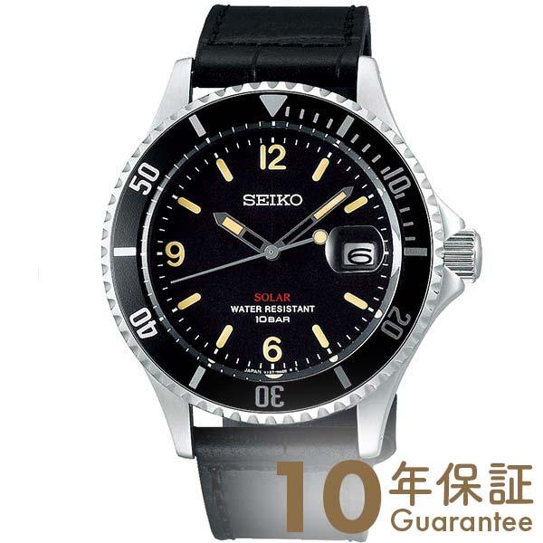 【29日は店内最大ポイント39倍!】 セイコー 腕時計 メンズ ソーラー 限定 革ベルト SEIKO SZEV013 黒