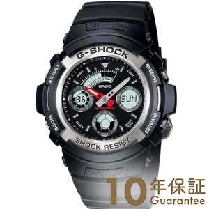 【当店なら!店内最大ポイント48倍!1日限定】 カシオ Gショック G-SHOCK STANDARD アナログ/デジタルコンビネーションモデル ブラック×ブラック AW-590-1AJF [正規品] メンズ 腕時計 時計(予約受付中)