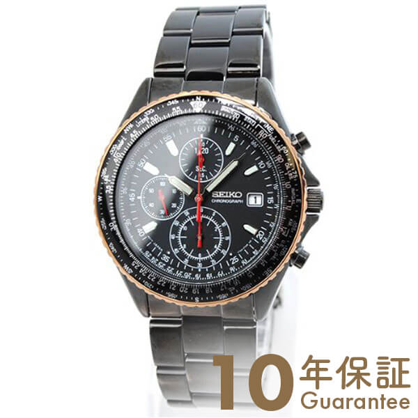 【29日は店内最大ポイント39倍!】 セイコー SEIKO 先行限定販売モデル パイロット クロノグラフ ブラック 100m防水 SZER034 [正規品] メンズ 腕時計 時計