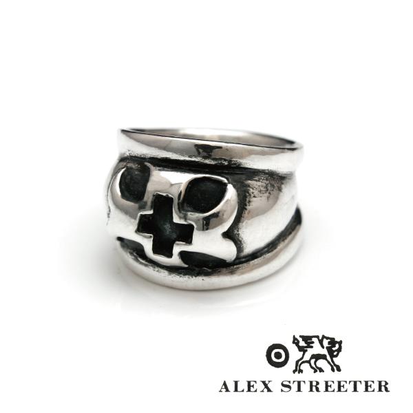 【送料無料】【代金引換不可商品】 アレックスストリーター Alex Streeter ドームクロスリング シルバー hyde メンズ レディース 20号